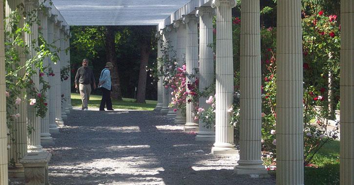 couple near gardens
