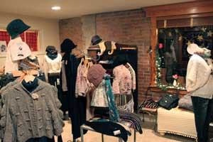 Interior of Yellow Boutique in Saratoga Springs