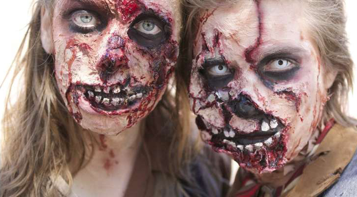 a male and female zombie