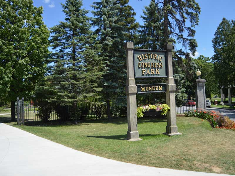 Entrance sign to the historic Congress Park