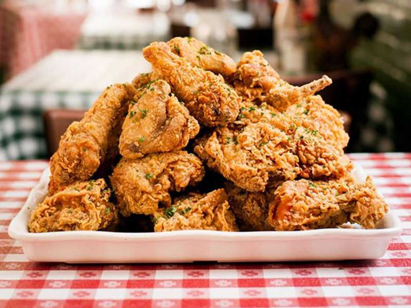 Fried chicken from Hattie's Restaurant