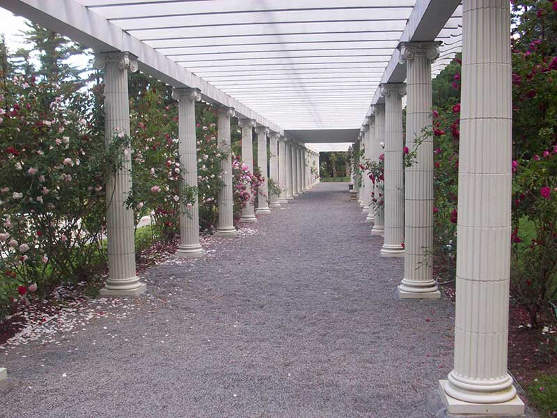 Column lined pathway at Yaddo Gardens