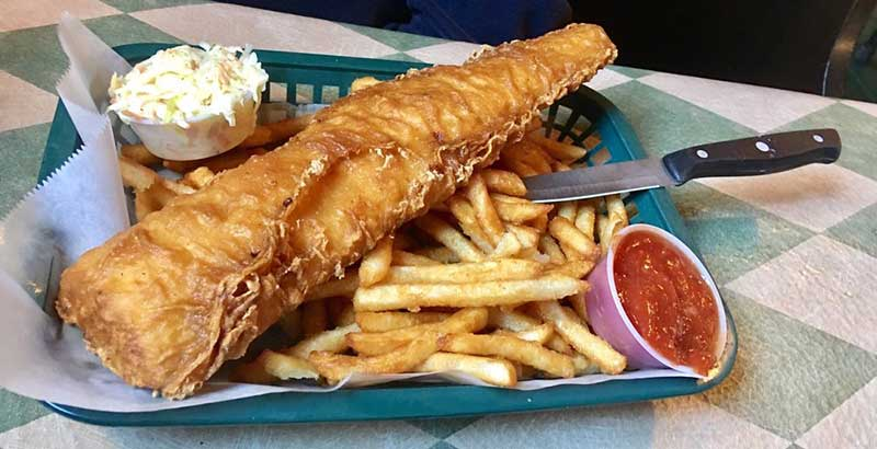 Fish n' chips basket from The Parting Glass
