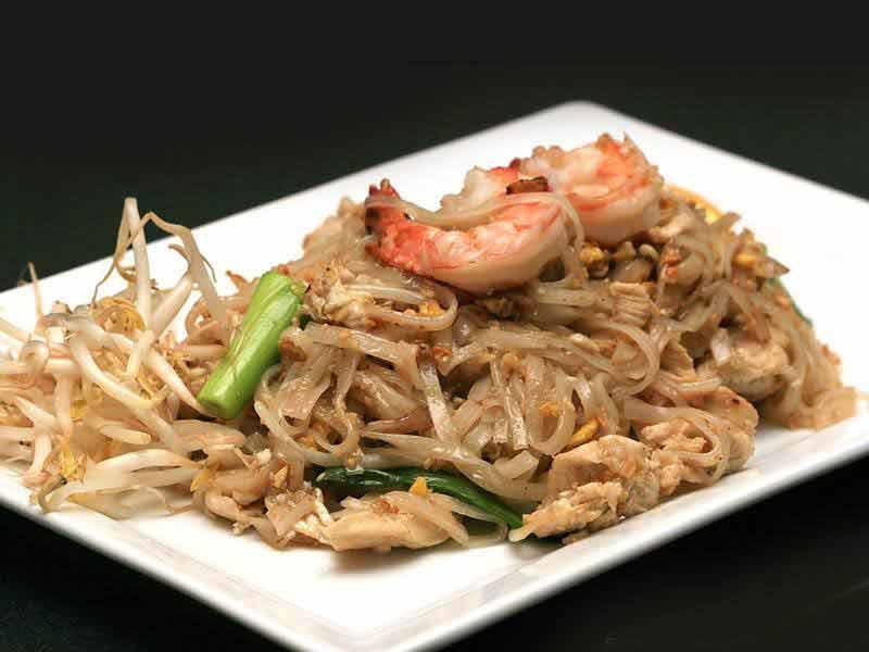 Chicken & Shrimp pad thai from Sushi Thai Garden