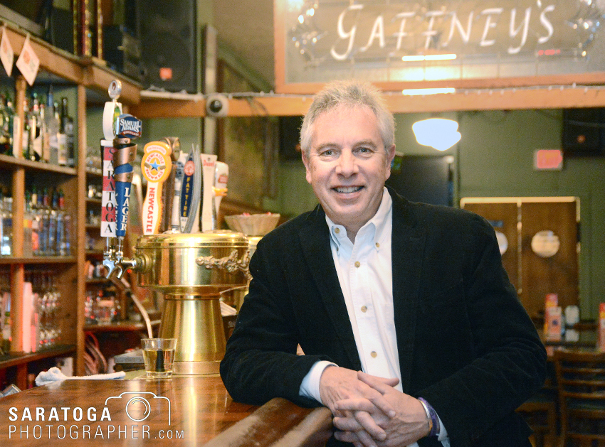 John Baker, 59, has owned and operated Gaffney's restaurant and bar on Caroline Street for 35 years, since he was 24 years old. The establishment is changing hands in January. ©2016 Saratoga Photographer.com