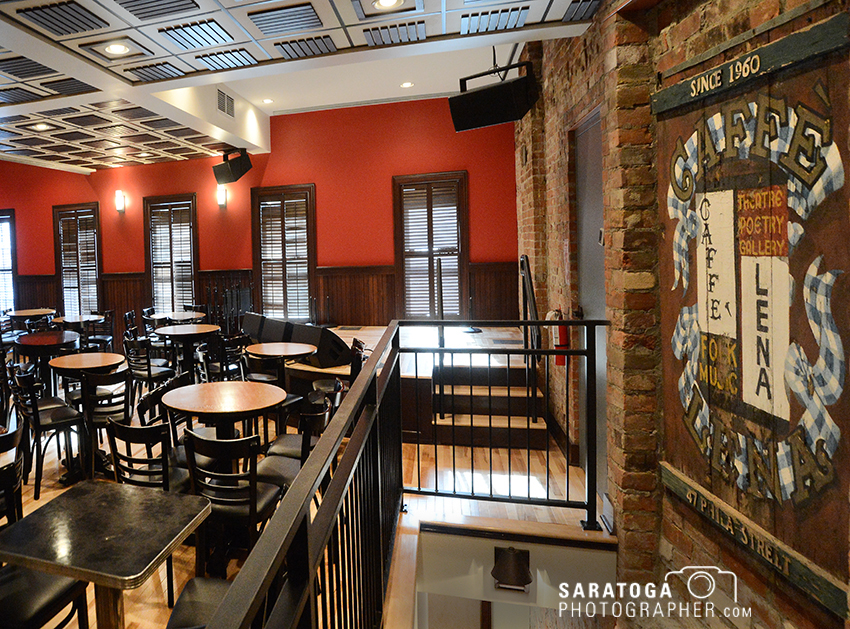 The second-floor space that is the iconic Caffè Lena, at 47 Phila St. in Saratoga Springs, underwent some major renovation and modernization and reopened on Dec. 30. ©2017 Saratoga Photographer.com
