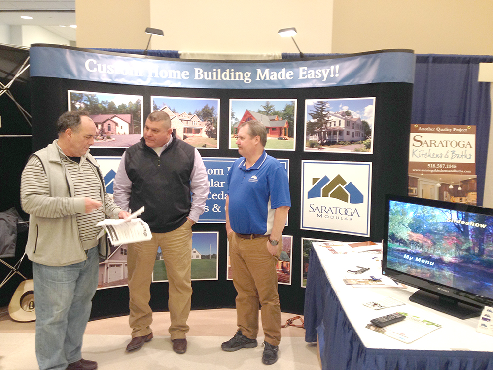 This booth of Saratoga Modular Homes LLC was part of last year's show. Courtesy Rotary Club