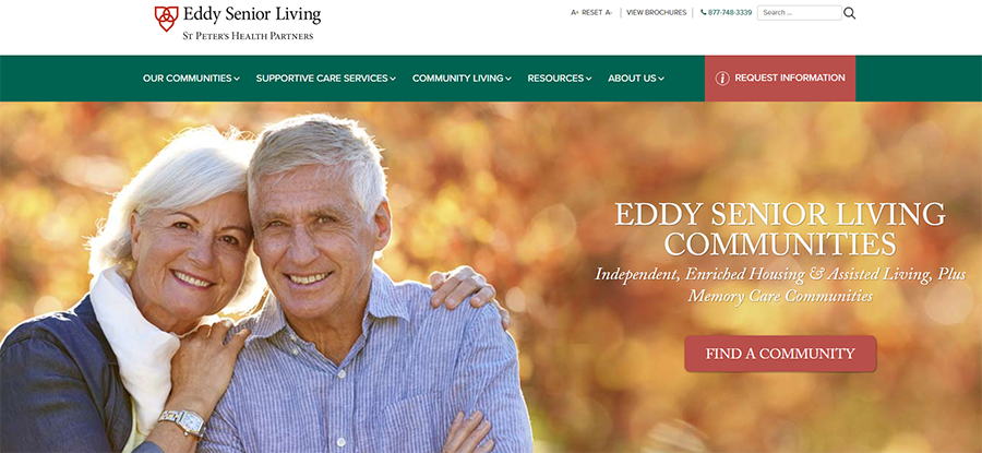 Eddy Senior Living Senior Communities Website