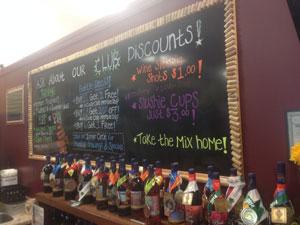 Tasting board at Adirondack Winery