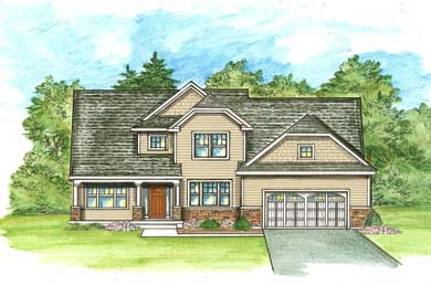 rendering of a home built by abele builders