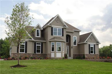 exterior of a home built by blitman development
