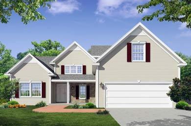 rendering of a home built by heritage custom builders