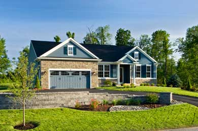 exterior of a home built by marini builders