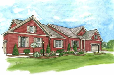 rendering of a home built by the michaels group