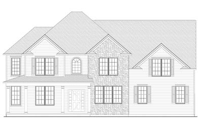 rendering of a home built by saratoga builders