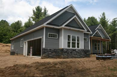 exterior of a home built by waldron builders