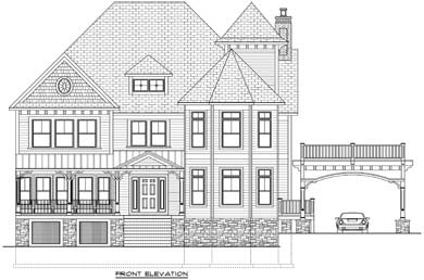 rendering of a home built by bella home builders