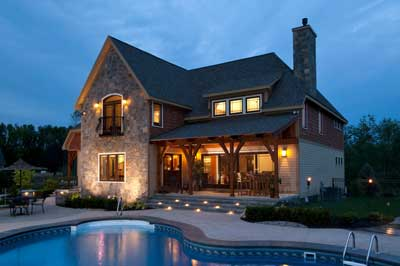 exterior of a home built by bella home builders