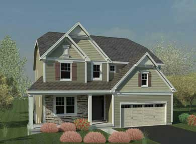 rendering of a home built by belmonte builders