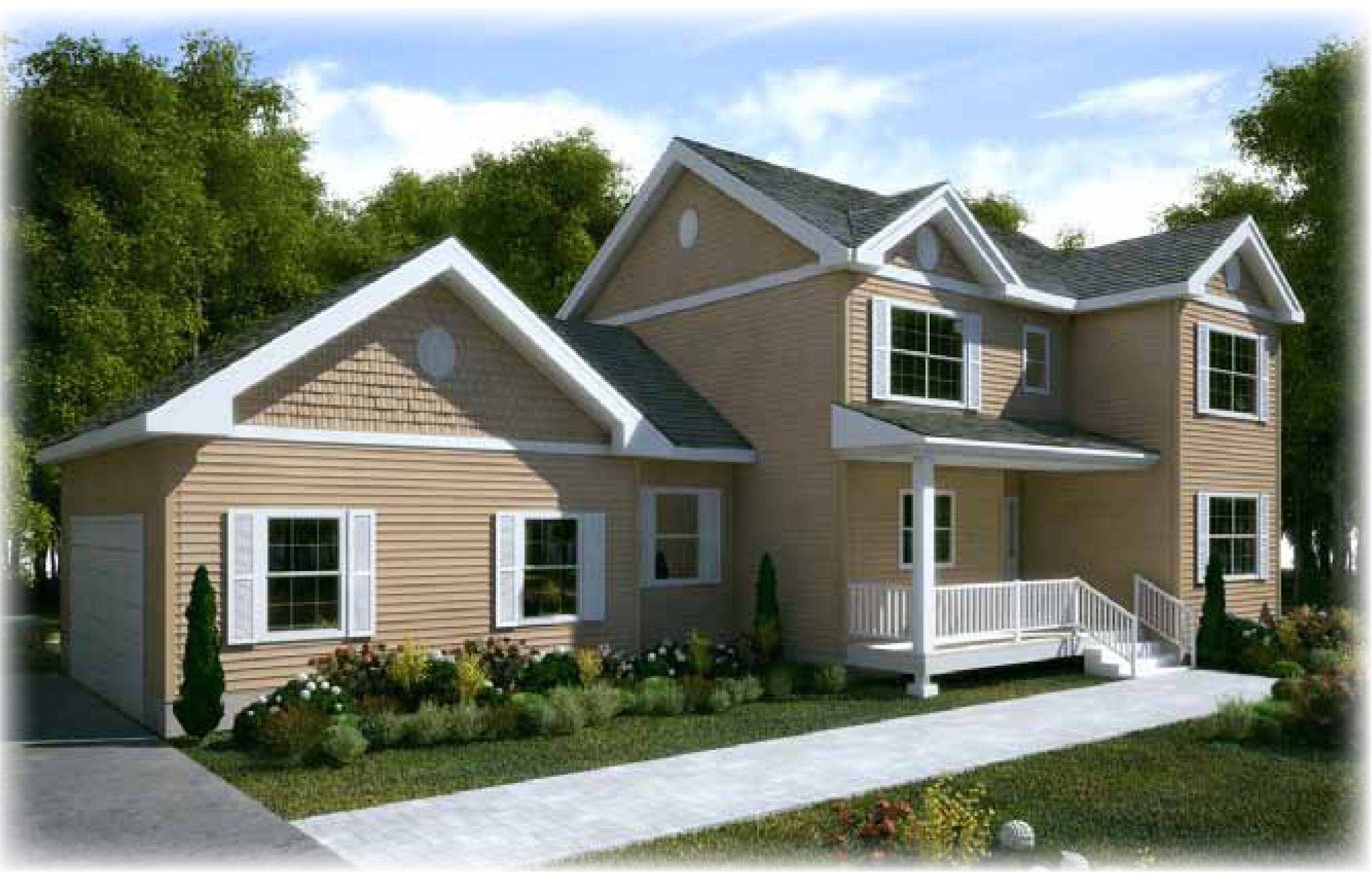 exterior of a home built by blitman development corp