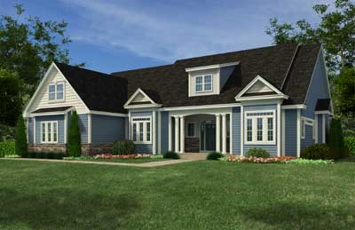 rendering of a home built by waldron builders
