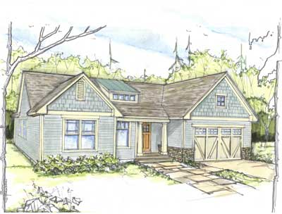rendering of a home built by witt construction