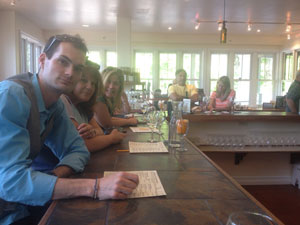 Enjoying the tasting room at Thirsty Owl in downtown Saratoga Springs