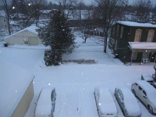 Saratoga Springs snowstorm in February