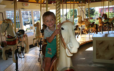 Kids love the Carousel at Congress Park!