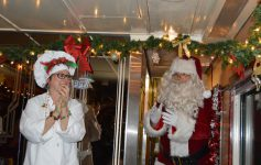 santa on the polar express