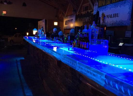 ice bar at mill on round lake
