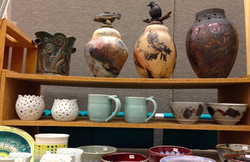 pottery at lifestyle show