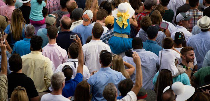 crowd of racing fans