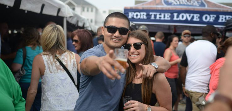 man and woman at brewfest