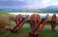 cannons at saratoga battlefield