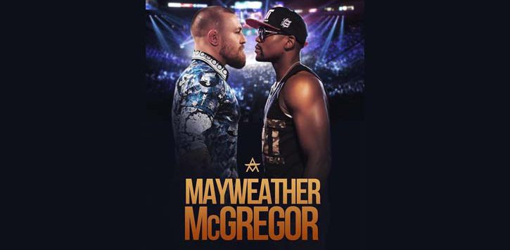 promo poster for mayweather and mcgregor