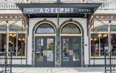 Entrance to The Adelphi Hotel in Saratoga Srprings