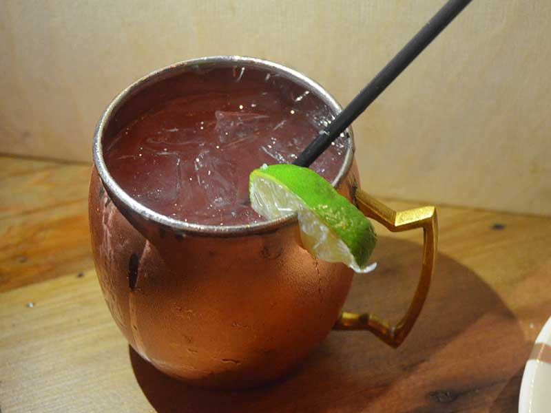 Cranberry Moscow Mule at Chianti