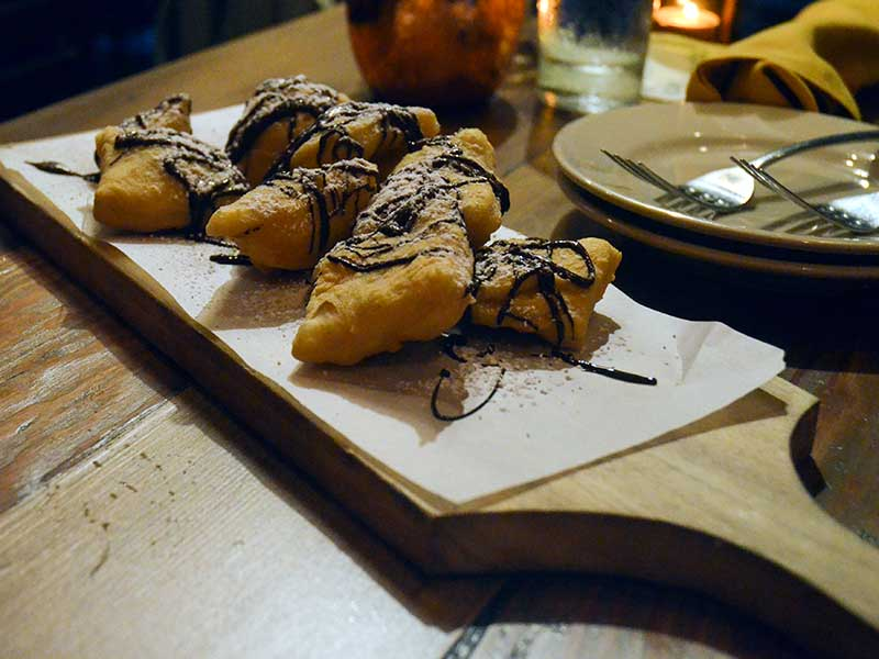 Dessert gnocco at Chianti