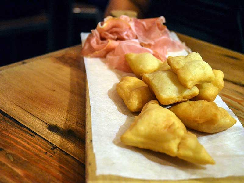 Prosciutto and gnocco dish at Chianti