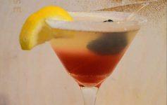 Raspberry lemon drop cocktail at Chianti