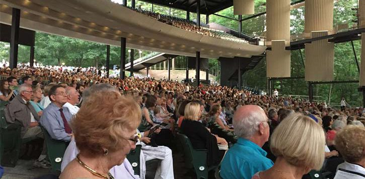 crowd at a show at SPAC