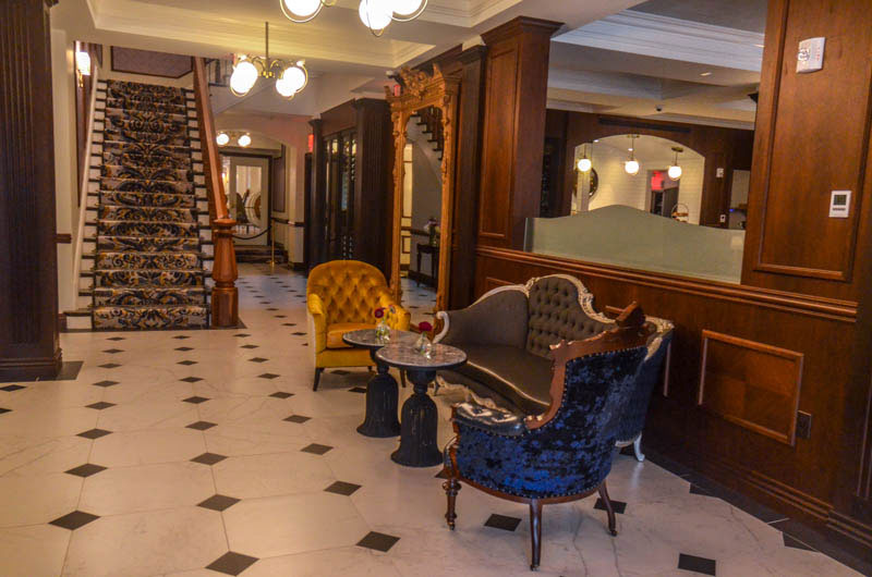 Lobby of The Adelphi Hotel