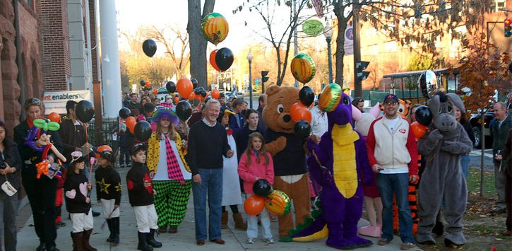 people in costumes at fall fest