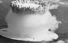 movie still of an explosion