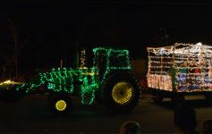 a holiday tractor parade