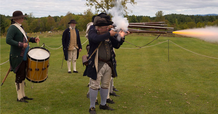 a musket demonstration