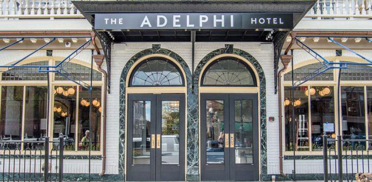 the outside of The Adelphi Hotel
