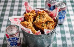 Bucket of fried chicken from Hattie's