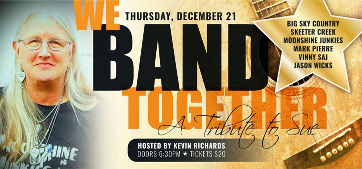 poster/flier for Band Together concert